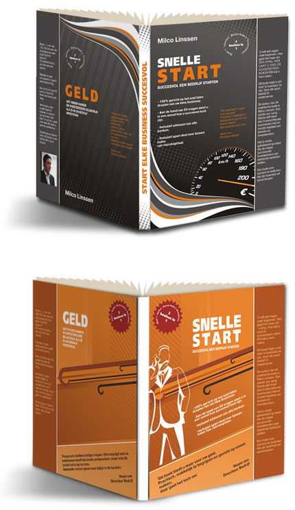 Creative book cover for business book 