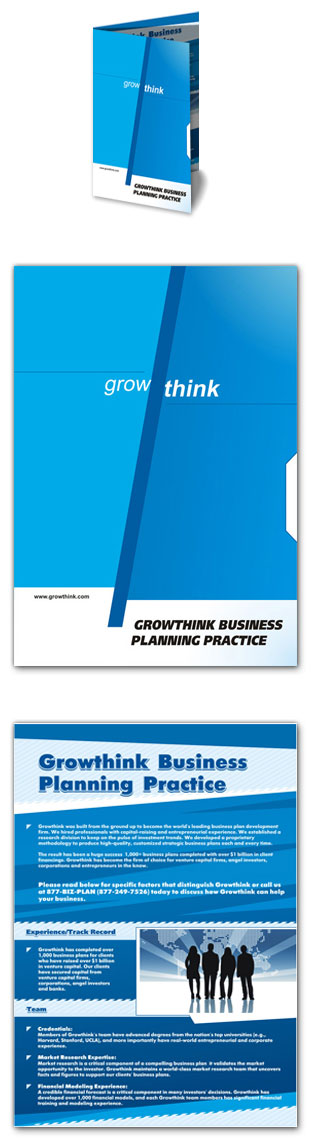 Redesign business brochure for a consulting company