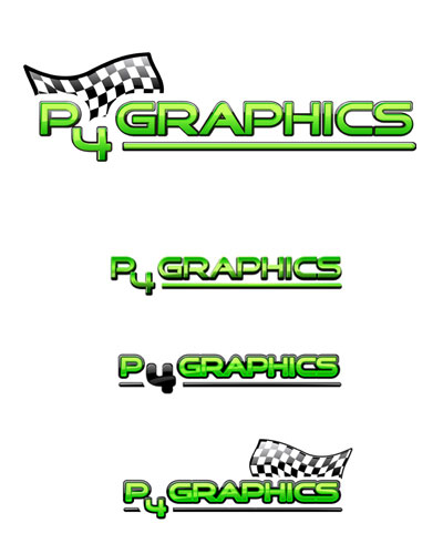 Creative logo in style of web2.0 for company working with graphics for racing teams